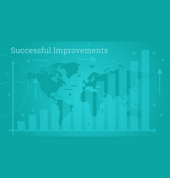 Business banner - successful improvements vector