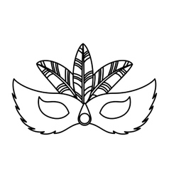 Carnival mask tropical icon vector