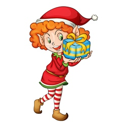 Christmas elf vector image