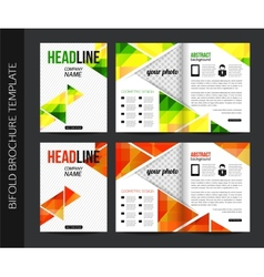 Corporate business stationery bifold brochure vector