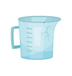 cracked measuring jug plastic waste flat vector image