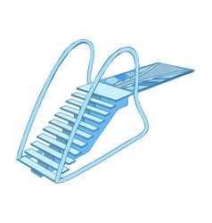 Diving board vector