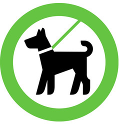 Dogs allowed only on a lead vector