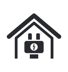 energy home icon vector image