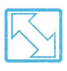 Exchange Diagonal Icon Rubber Stamp vector