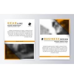 Flyer cover design yellow Template brochure vector