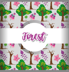 Forest pattern background vector
