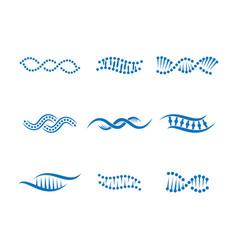 Gene symbol icon vector