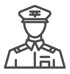 General line icon commander vector