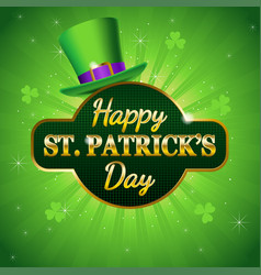 happy saint patricks day symbol vector image