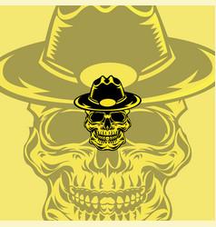 hat skull mascot logo vector image