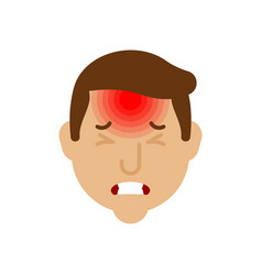 headache head pain metaphor problems vector image