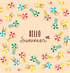 hello summer card of people on the beach vector image