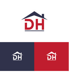 icon letter d h and roof vector image