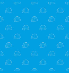 Igloo pattern seamless blue vector
