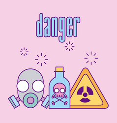 images scientific laboratory danger vector image