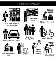 In case of hurricane typhoon cyclone emergency vector