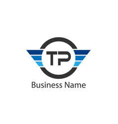 Initial letter tp logo template design vector