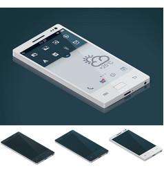 Isometric generic smartphone vector