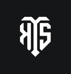 Ks logo monogram design template vector