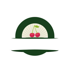 Label fruit emblem vector