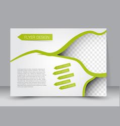 landscape billboard flyer template vector image