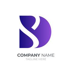 Letter d s logo vector