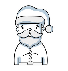 line santa claus to celebrate merry christmas vector image