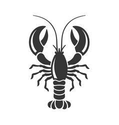 lobster silhouette icon on white background vector image