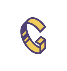 logo sign letter g linear outline icon vector image