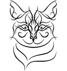 mandalas cat vector image