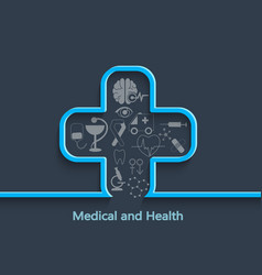 medical and health concept vector image