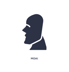 Moai icon on white background simple element from vector