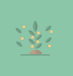 money tree concept business vector image
