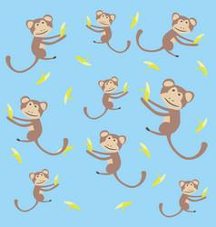 Monkey kids background vector