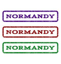 Normandy watermark stamp vector