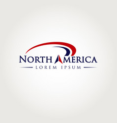 north america logo symbol icon vector image