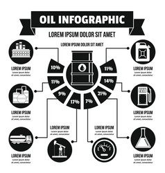 Oil infographic concept simple style vector