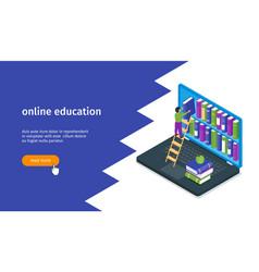 online education banner 03 vector image