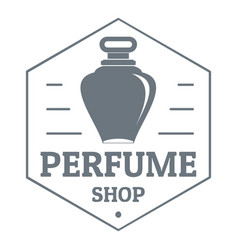Perfume boutique logo vintage style vector