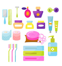 Personal hygiene items vector