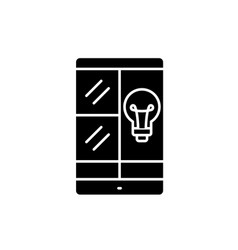 phablet idea black icon sign on isolated vector image