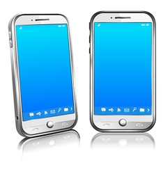 Phone cell smart mobile 3d and 2d vector