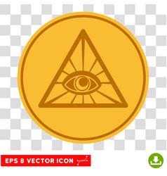 pyramid eye eps icon vector image