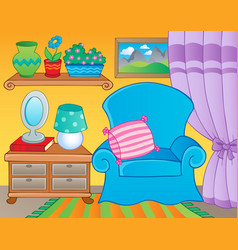 room with furniture theme image 2 vector image