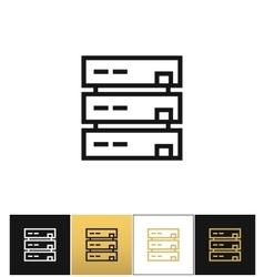 Server or computer data storage icon vector
