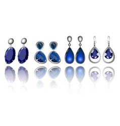 Set earrings vector