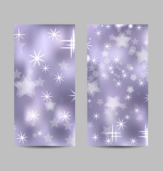 Set vertical banners with stars and circles vector