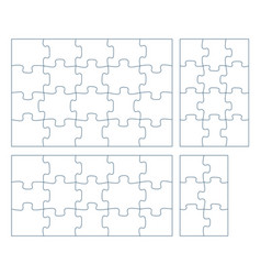 Sets puzzle pieces 2 x 3 vector