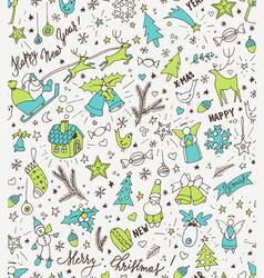 Sketchy neon bright doodle winter christmas vector